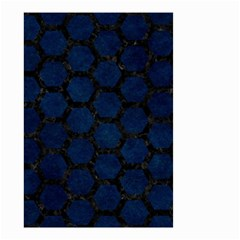 Hexagon2 Black Marble & Blue Grunge (r) Small Garden Flag (two Sides) by trendistuff