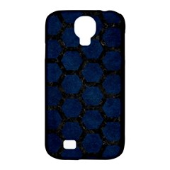 Hexagon2 Black Marble & Blue Grunge (r) Samsung Galaxy S4 Classic Hardshell Case (pc+silicone) by trendistuff