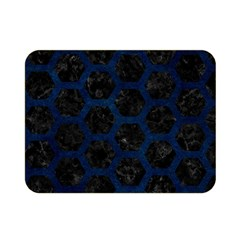 Hexagon2 Black Marble & Blue Grunge Double Sided Flano Blanket (mini) by trendistuff