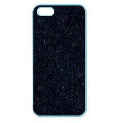 Hexagon1 Black Marble & Blue Grunge Apple Seamless Iphone 5 Case (color) by trendistuff
