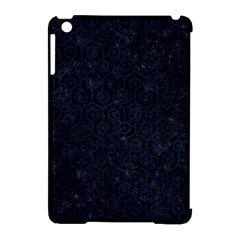 Hexagon1 Black Marble & Blue Grunge Apple Ipad Mini Hardshell Case (compatible With Smart Cover) by trendistuff
