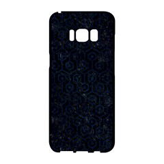 Hexagon1 Black Marble & Blue Grunge Samsung Galaxy S8 Hardshell Case  by trendistuff
