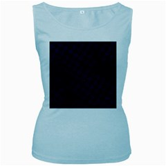 Houndstooth2 Black Marble & Blue Grunge Women s Baby Blue Tank Top by trendistuff