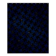 Houndstooth2 Black Marble & Blue Grunge Shower Curtain 60  X 72  (medium) by trendistuff