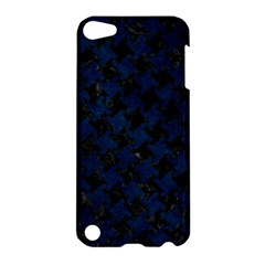 Houndstooth2 Black Marble & Blue Grunge Apple Ipod Touch 5 Hardshell Case by trendistuff