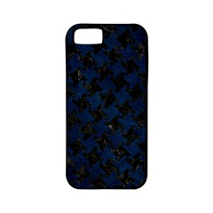 Houndstooth2 Black Marble & Blue Grunge Apple Iphone 5 Classic Hardshell Case (pc+silicone) by trendistuff