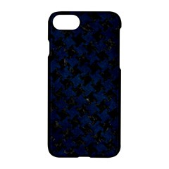 Houndstooth2 Black Marble & Blue Grunge Apple Iphone 7 Hardshell Case by trendistuff