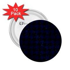 Houndstooth1 Black Marble & Blue Grunge 2 25  Button (10 Pack) by trendistuff