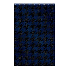 Houndstooth1 Black Marble & Blue Grunge Shower Curtain 48  X 72  (small) by trendistuff