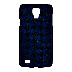 Houndstooth1 Black Marble & Blue Grunge Samsung Galaxy S4 Active (i9295) Hardshell Case by trendistuff