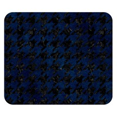 Houndstooth1 Black Marble & Blue Grunge Double Sided Flano Blanket (small) by trendistuff