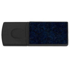 Damask2 Black Marble & Blue Grunge (r) Usb Flash Drive Rectangular (4 Gb) by trendistuff