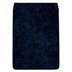 Damask2 Black Marble & Blue Grunge (r) Removable Flap Cover (s) by trendistuff