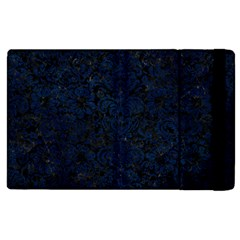 Damask2 Black Marble & Blue Grunge Apple Ipad 3/4 Flip Case by trendistuff
