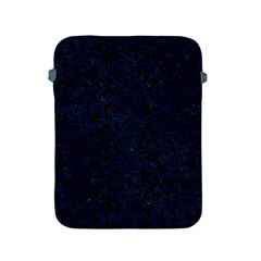 Damask2 Black Marble & Blue Grunge Apple Ipad 2/3/4 Protective Soft Case by trendistuff