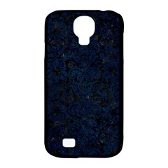 Damask2 Black Marble & Blue Grunge Samsung Galaxy S4 Classic Hardshell Case (pc+silicone) by trendistuff