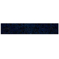 Damask2 Black Marble & Blue Grunge Flano Scarf (large) by trendistuff