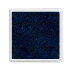 Damask1 Black Marble & Blue Grunge (r) Memory Card Reader (square) by trendistuff