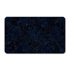 Damask1 Black Marble & Blue Grunge Magnet (rectangular) by trendistuff