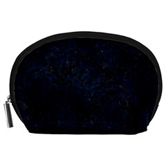 Damask1 Black Marble & Blue Grunge Accessory Pouch (large) by trendistuff