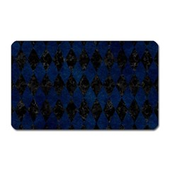 Diamond1 Black Marble & Blue Grunge Magnet (rectangular) by trendistuff