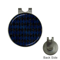 Diamond1 Black Marble & Blue Grunge Golf Ball Marker Hat Clip by trendistuff