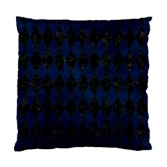 Diamond1 Black Marble & Blue Grunge Standard Cushion Case (two Sides) by trendistuff