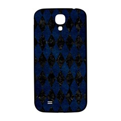 Diamond1 Black Marble & Blue Grunge Samsung Galaxy S4 I9500/i9505  Hardshell Back Case by trendistuff