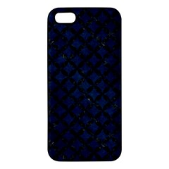 Circles3 Black Marble & Blue Grunge (r) Apple Iphone 5 Premium Hardshell Case by trendistuff