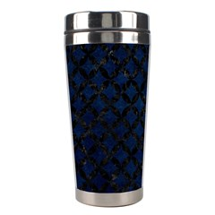 Circles3 Black Marble & Blue Grunge (r) Stainless Steel Travel Tumbler by trendistuff