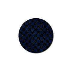 Circles2 Black Marble & Blue Grunge (r) Golf Ball Marker (10 Pack) by trendistuff