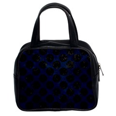 Circles2 Black Marble & Blue Grunge (r) Classic Handbag (two Sides) by trendistuff
