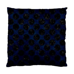 Circles2 Black Marble & Blue Grunge (r) Standard Cushion Case (two Sides) by trendistuff