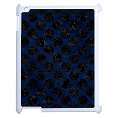Circles2 Black Marble & Blue Grunge (r) Apple Ipad 2 Case (white) by trendistuff