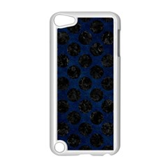 Circles2 Black Marble & Blue Grunge (r) Apple Ipod Touch 5 Case (white) by trendistuff