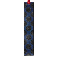 Circles2 Black Marble & Blue Grunge (r) Large Book Mark by trendistuff