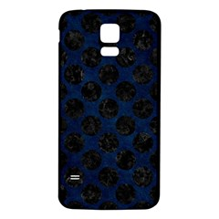 Circles2 Black Marble & Blue Grunge (r) Samsung Galaxy S5 Back Case (white) by trendistuff