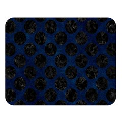 Circles2 Black Marble & Blue Grunge (r) Double Sided Flano Blanket (large) by trendistuff