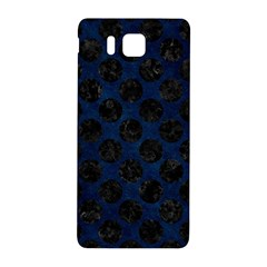 Circles2 Black Marble & Blue Grunge (r) Samsung Galaxy Alpha Hardshell Back Case by trendistuff