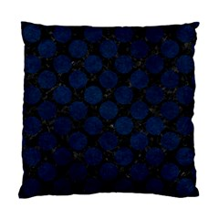 Circles2 Black Marble & Blue Grunge Standard Cushion Case (two Sides) by trendistuff