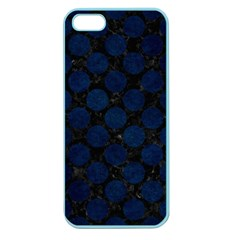 Circles2 Black Marble & Blue Grunge Apple Seamless Iphone 5 Case (color) by trendistuff