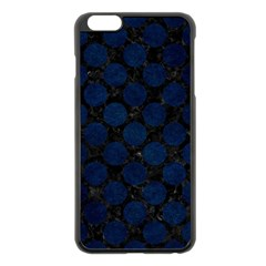 Circles2 Black Marble & Blue Grunge Apple Iphone 6 Plus/6s Plus Black Enamel Case by trendistuff