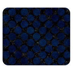 Circles2 Black Marble & Blue Grunge Double Sided Flano Blanket (small) by trendistuff