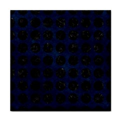 Circles1 Black Marble & Blue Grunge (r) Tile Coaster by trendistuff