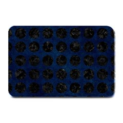Circles1 Black Marble & Blue Grunge (r) Plate Mat by trendistuff