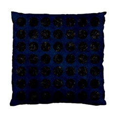 Circles1 Black Marble & Blue Grunge (r) Standard Cushion Case (two Sides) by trendistuff