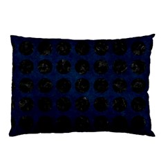 Circles1 Black Marble & Blue Grunge (r) Pillow Case (two Sides) by trendistuff