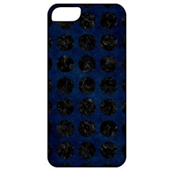 Circles1 Black Marble & Blue Grunge (r) Apple Iphone 5 Classic Hardshell Case by trendistuff