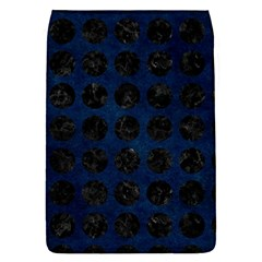 Circles1 Black Marble & Blue Grunge (r) Removable Flap Cover (s) by trendistuff