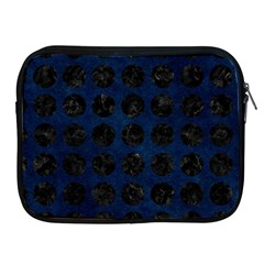 Circles1 Black Marble & Blue Grunge (r) Apple Ipad Zipper Case by trendistuff